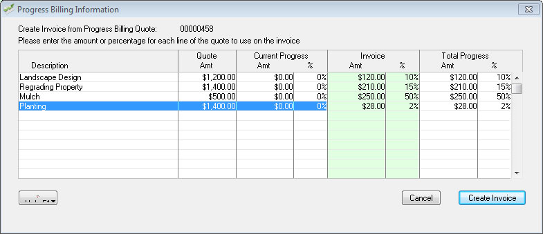 Progress billing in AccountEdge.